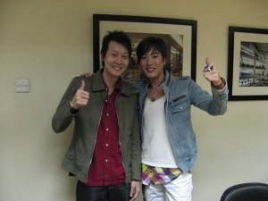Lee An with DJ Andy from Cakrawala