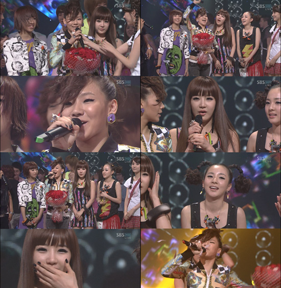 2ne1 wins mutizen in inkigayo