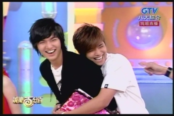 lee min ho gets hug from xiaozhu