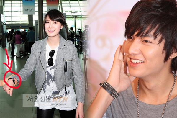 Lee Min Ho mengenakan Black Bracelet tersebut saat promo Pepsi Nex dan ...