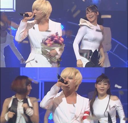 gd won inkigayo 090906