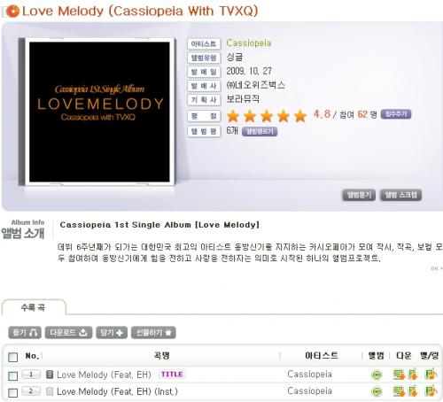 love and melody by cassiopeia